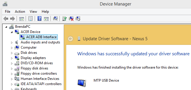 Nexus 5 can't connect to Win8 PC via USB  [Solved] - PassMark