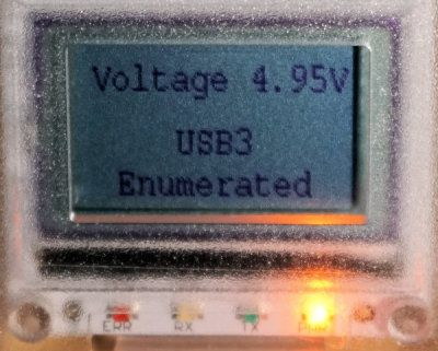 USB enumerated on a USB3 port
