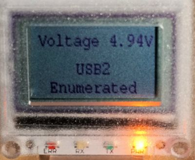 USB enumerated on a USB2 port