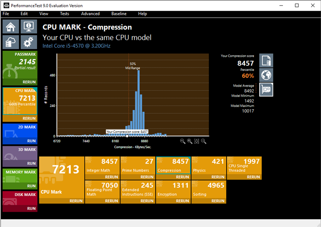 PassMark PerformanceTest - PC benchmark software
