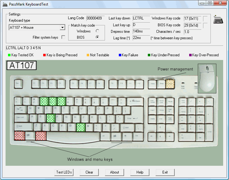 Passmark Keyboardtest Keyboard Test Software
