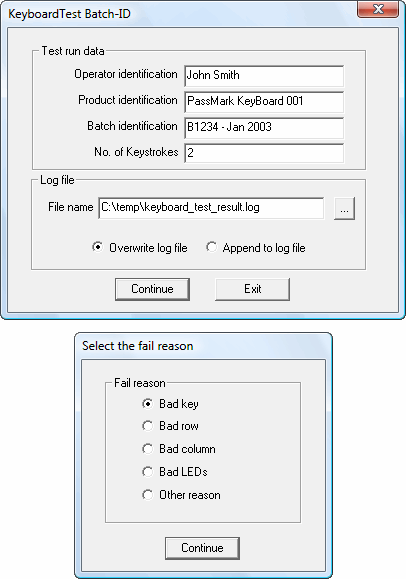 Keyboard test software - PassMark KeyboardTest