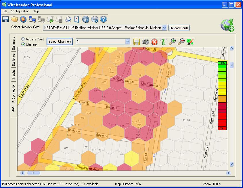 PassMark WirelessMon - Wireless 802 11 WiFi monitoring software