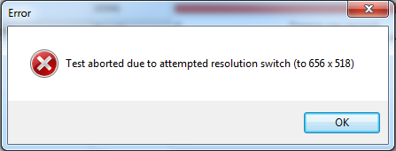 PT resolution switch error