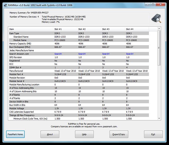 RAMMon full screenshot
