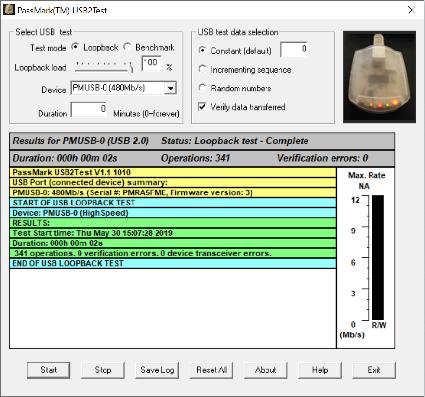 USB reliability & benchmarking software - PassMark USB2Test